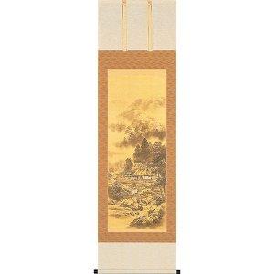 画像1: 開運掛軸 吉祥四神相応山水図 今井玲豊