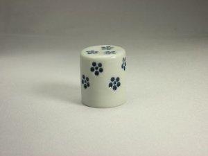 画像1: 軸先 白磁 青花