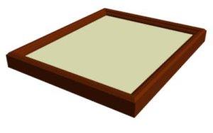 画像1: 木製角型 女桑フリータイプ 半懐紙