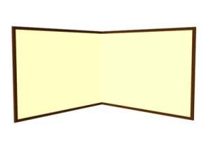 画像1: 枕屏風(紙丁番)女桑 とりのこ 外寸H2.5x3尺
