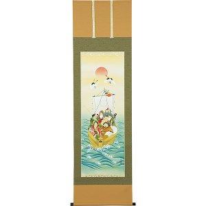 画像1: 正月掛軸 七福神 柳原秋峰
