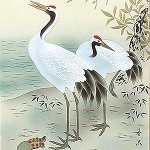 画像2: 正月掛軸 松竹梅鶴亀 香泉