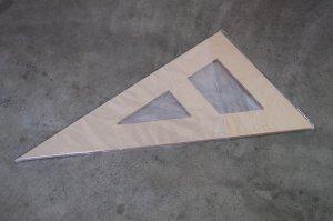 画像1: アクリル直角三角形定規 2尺×1.13尺
